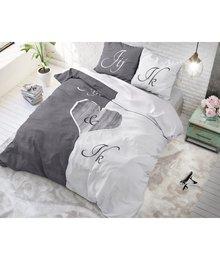 Dreamhouse Bedding dekbedovertrek liefde ''Jij en Ik'' grijs