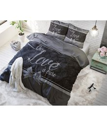 Dreamhouse Bedding dekbedovertrek ''Pure Love'' zwart met strik