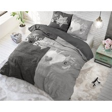 Dreamhouse Bedding dekbedovertrek ''Madame/Monsieur'' linnenlook