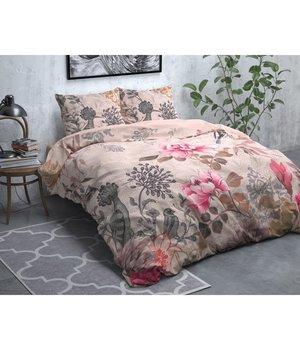 Dreamhouse Bedding Flanellen Dekbedovertrek''Forest Charm'' pasteel pink met bloemen en vogels