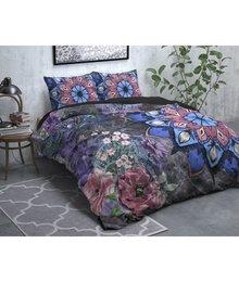 Dreamhouse Bedding Flanellen Dekbedovertrek  ''Dark flower'' antraciet