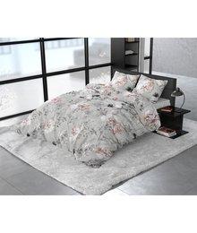 Dreamhouse Bedding Katoen satijn dekbedovertrek ''Soraya'' fleurig grijs