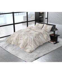 Dreamhouse Bedding Katoen satijn dekbedovertrek ''Finn'' sand met varen