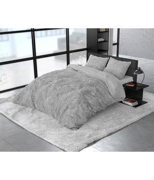 Dreamhouse Bedding Katoen satijn dekbedovertrek ''Noah'' washed look grijs met bomen