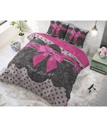 Dreamhouse Bedding katoen dekbedovertrek ''Romance'' met roze strik