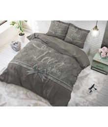 Dreamhouse Bedding dekbedovertrek ''Pure Love'' grijs met strik
