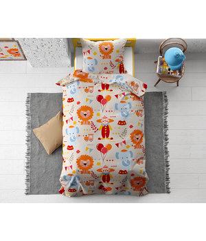 Dreamhouse Bedding Kids dekbedovertrek ''Circus'' met leeuwen, olifantjes en clowns