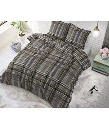 Sleeptime Elegance Katoen dekbedovertrek taupe met strepen