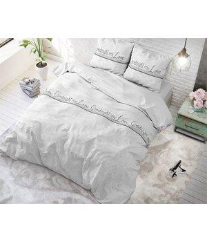 Sleeptime Elegance Classic  dekbedovertrek ''Goodnight'' wit