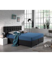 HomeCare Dubbel Jersey Hoeslaken Blauw