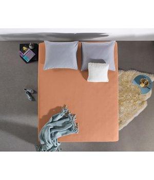 HomeCare Jersey Hoeslaken pasteel oranje