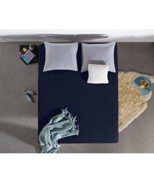 HomeCare Jersey Hoeslaken indigo blauw