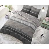 Dreamhouse Bedding dekbedovertrek  ''Morning'' taupe met horizontale strepen
