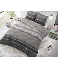Dreamhouse Bedding dekbedovertrek  ''Morning'' taupe met horizontale strepen