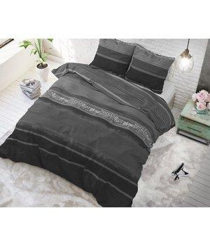 Dreamhouse Bedding dekbedovertrek  ''Morning'' antraciet met horizontale strepen