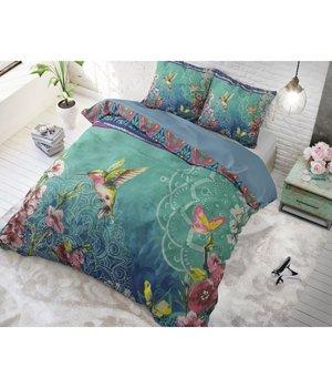 "Dreamhouse Bedding katoenen dekbedovertrek ''Hummingbird"" blue"