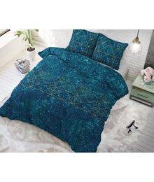 Sleeptime Elegance katoen dekbedovertrek ''marble'' emerald