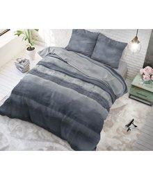 Sleeptime Elegance Dekbedovertrek ''Marcus''  met navyt/grijze strepen/gestreept