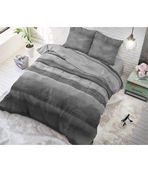 Sleeptime Elegance Dekbedovertrek ''Marcus'' met antraciet/grijze strepen/gestreept
