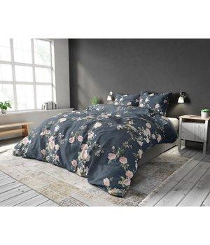 Sleeptime Elegance Katoen Dekbedovertrek ''Flower garden'' antraciet
