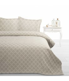 Fancy Embroidery Luxe bedsprei beige