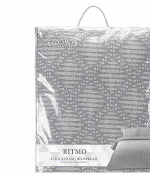 Fancy Embroidery patroon sprei grijs