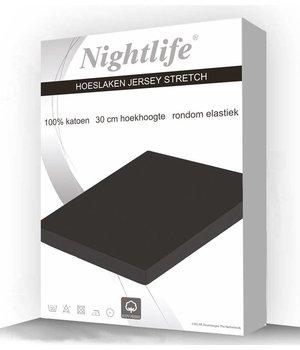 Nightlife Jersey Hoeslaken Grey/ licht grijs