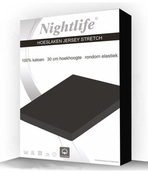 Nightlife Jersey Hoeslaken Zwart