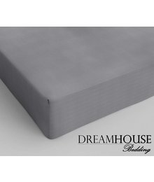 Dreamhouse Bedding Katoen Hoeslaken Grijs