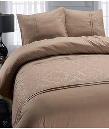 "Fancy Embroidery Luxe dekbedovertrekken Taupe ""Royal Barok"""
