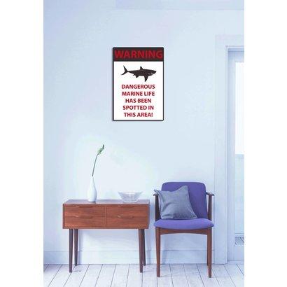 Airpart Art - Warning Bord Sharks