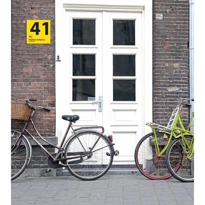 Airpart Art - Huisnummer + Namen (2 regels)