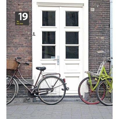 Airpart Art - Huisnummer + Familienaam