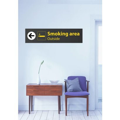 Airpart Art - Smoking Sign Outside