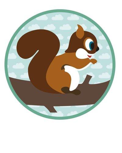 Muursticker eekhoorn