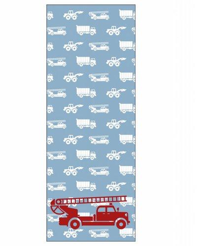 Behangpaneel auto's met brandweer blauw