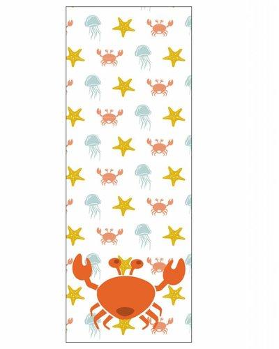 Behangpaneel zeedieren met krab oranje geel