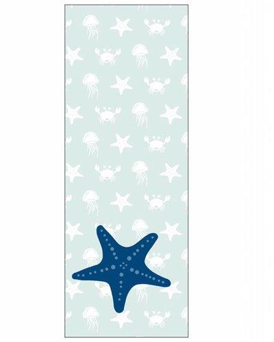 Behangpaneel zeedieren met zeester blauw