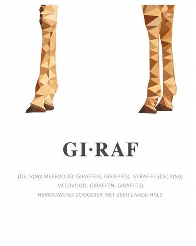 Behangpaneel giraf