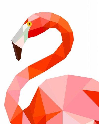 Behangpaneel flamingo