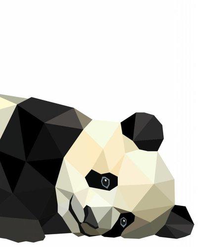 Behangpaneel panda