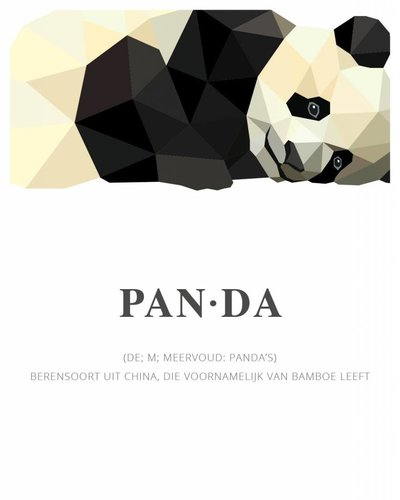 Behangpaneel panda