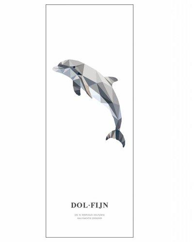 Behangpaneel dolfijn