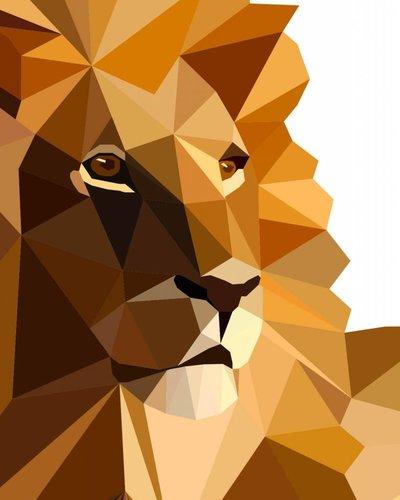 Behangpaneel leeuw