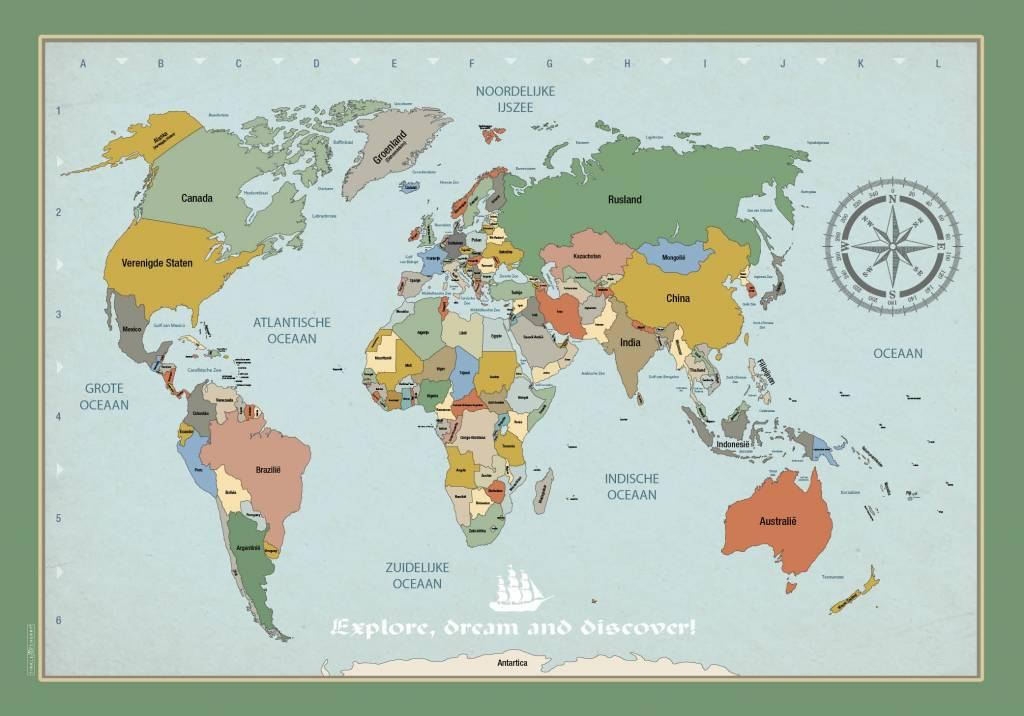 Verrassend Poster wereldkaart - Tinkle&Cherry NT-92