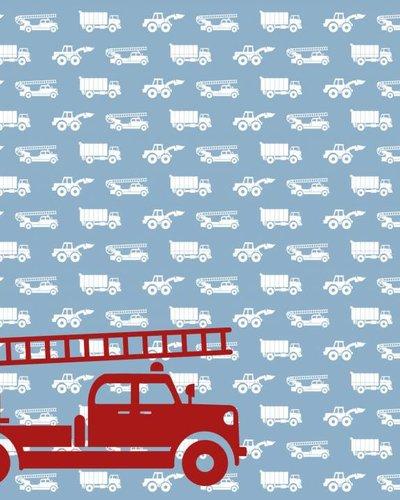 Behang auto's met brandweer blauw