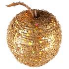 appel met pailletten goud