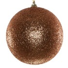 basis kerstbal glitter brons ca 8cm rond