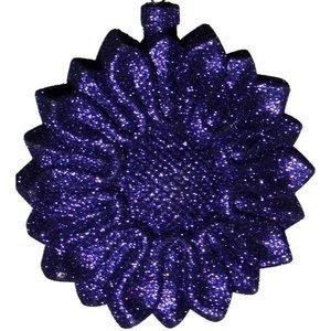 bloemornament glitter paars blauw