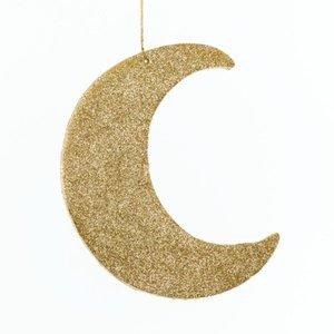maan ca. 25cm glitter goud